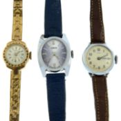 A bag of assorted mechanical lady's Oris watches.