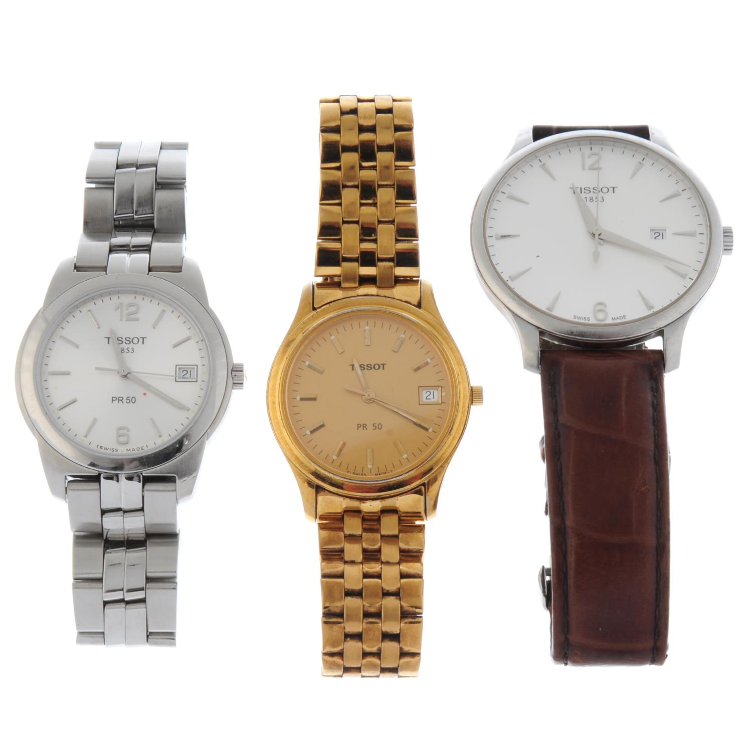 A group of six assorted Tissot watches. - Image 2 of 2