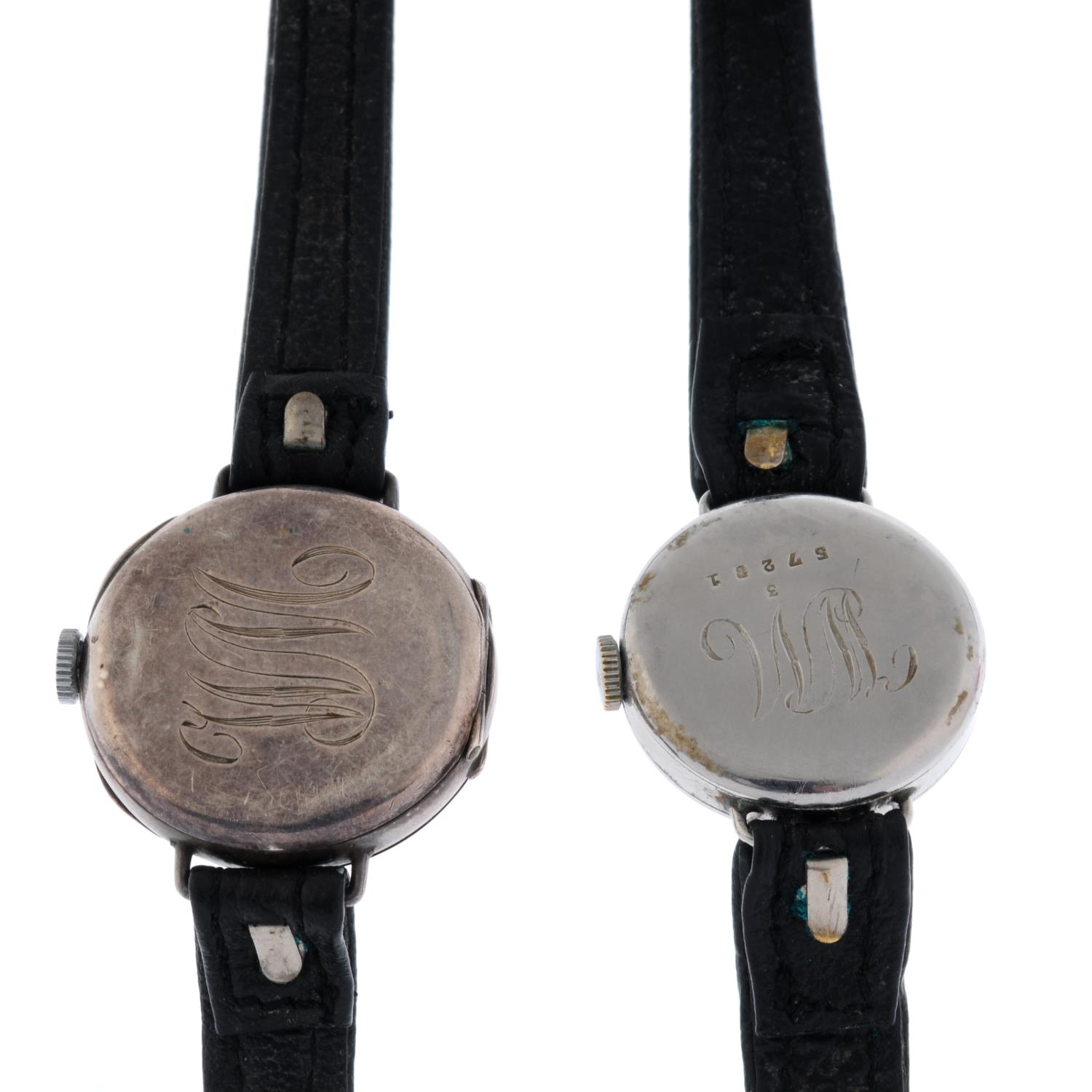 A trench style wrist watch. - Image 2 of 2