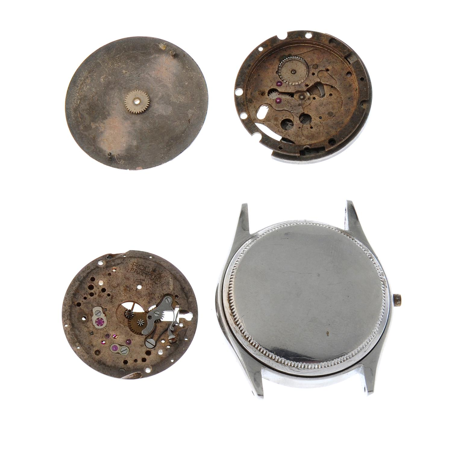 ROLEX - an Oyster Perpetual watch dial together with two incomplete signed Rolex movements and a - Image 2 of 2
