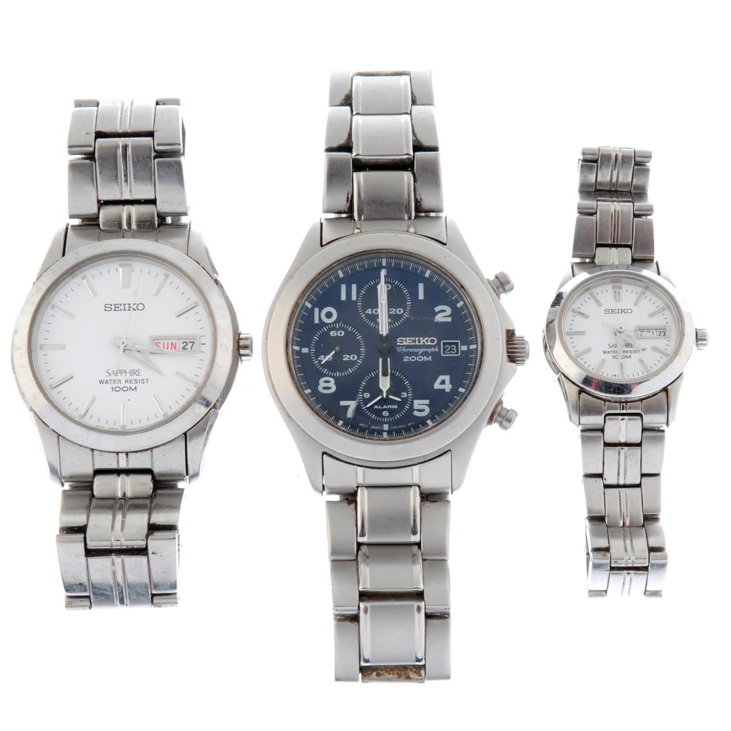 A group of ten assorted Sekio watches.