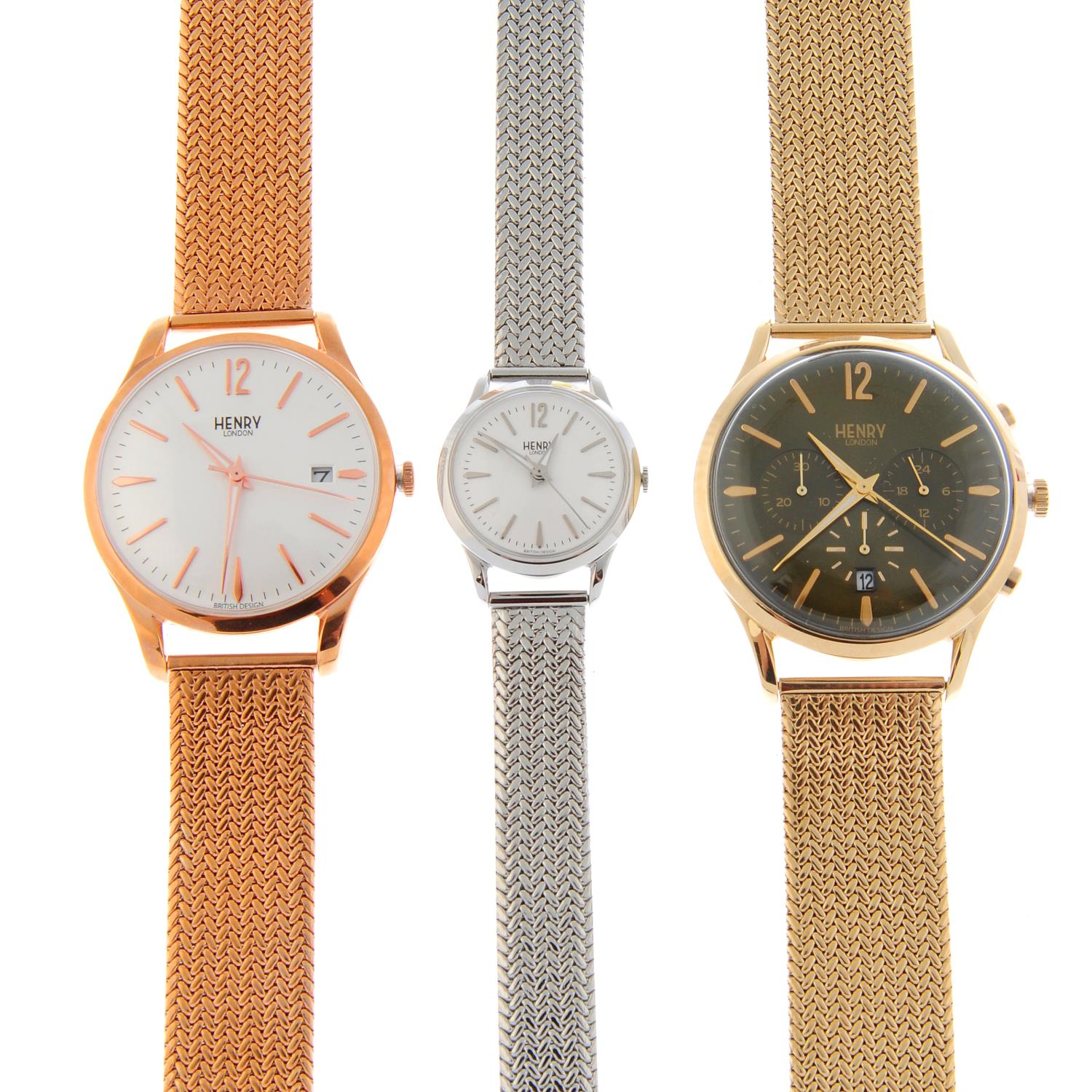 A group of five assorted watches,
