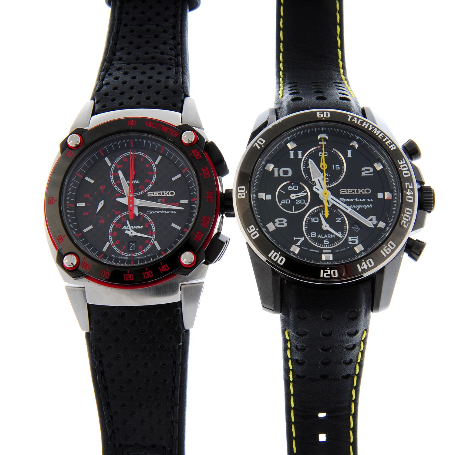 A group of four assorted Seiko watches, to include three chronograph examples. - Image 2 of 2