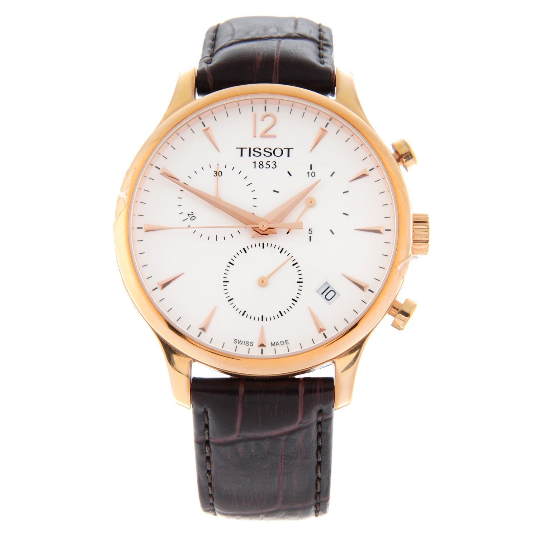TISSOT - a Tradition chronograph wrist watch.
