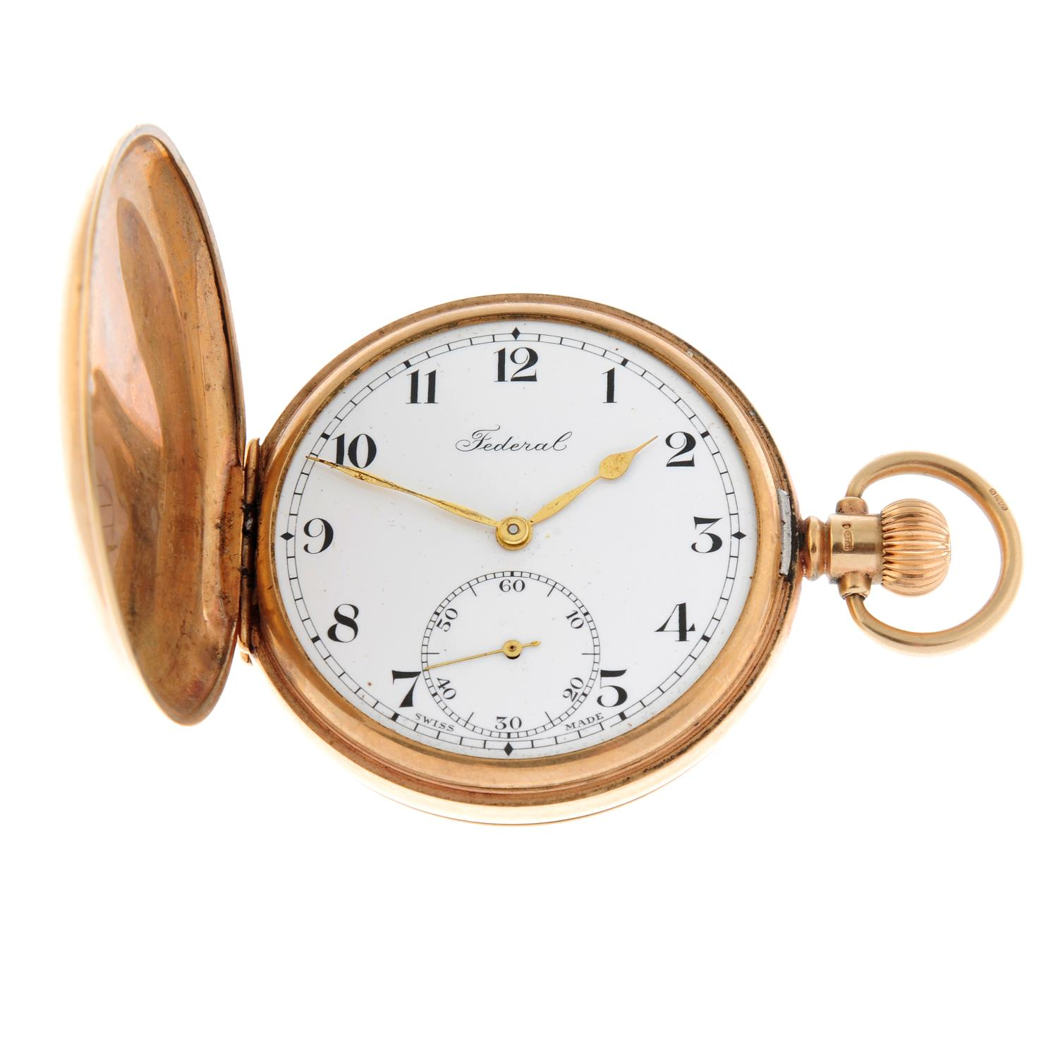 A full hunter pocket watch by Federal.