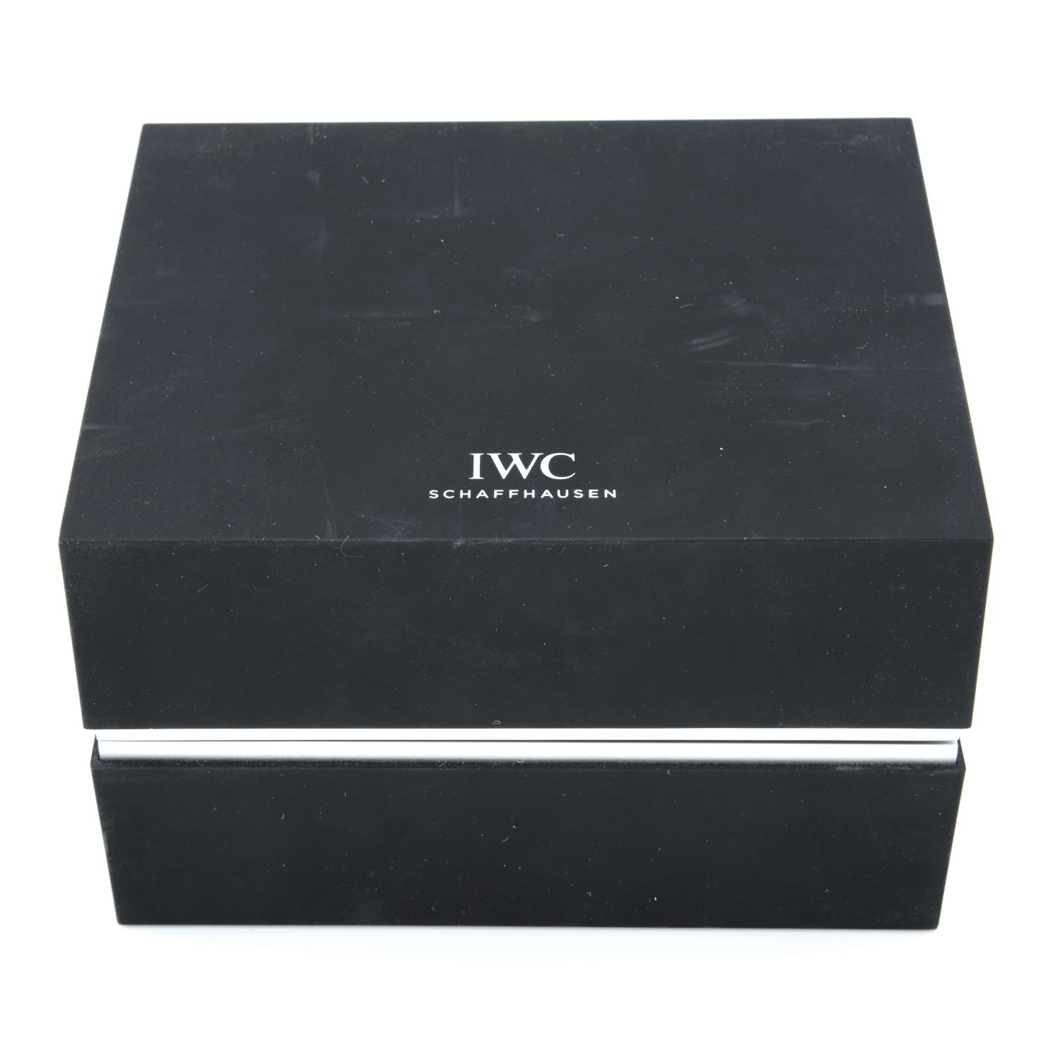 IWC - a group of ten watch boxes and service pouches, some incomplete.