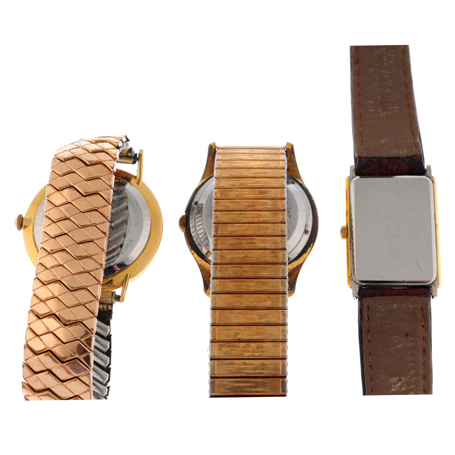 A group of five wrist watches, to include an example by Enicar and Tissot. - Image 2 of 4