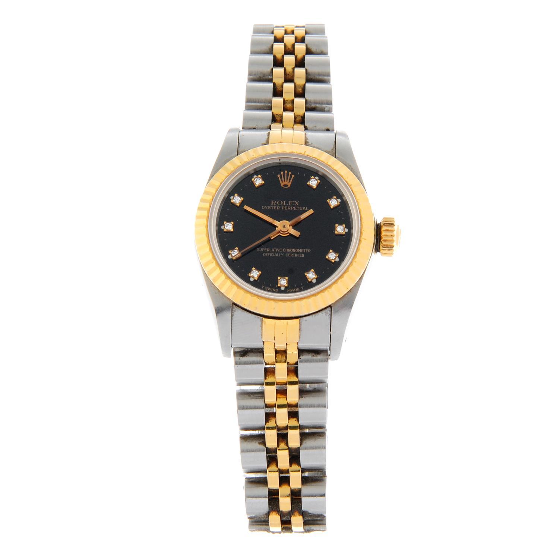 ROLEX - an Oyster Perpetual bracelet watch.