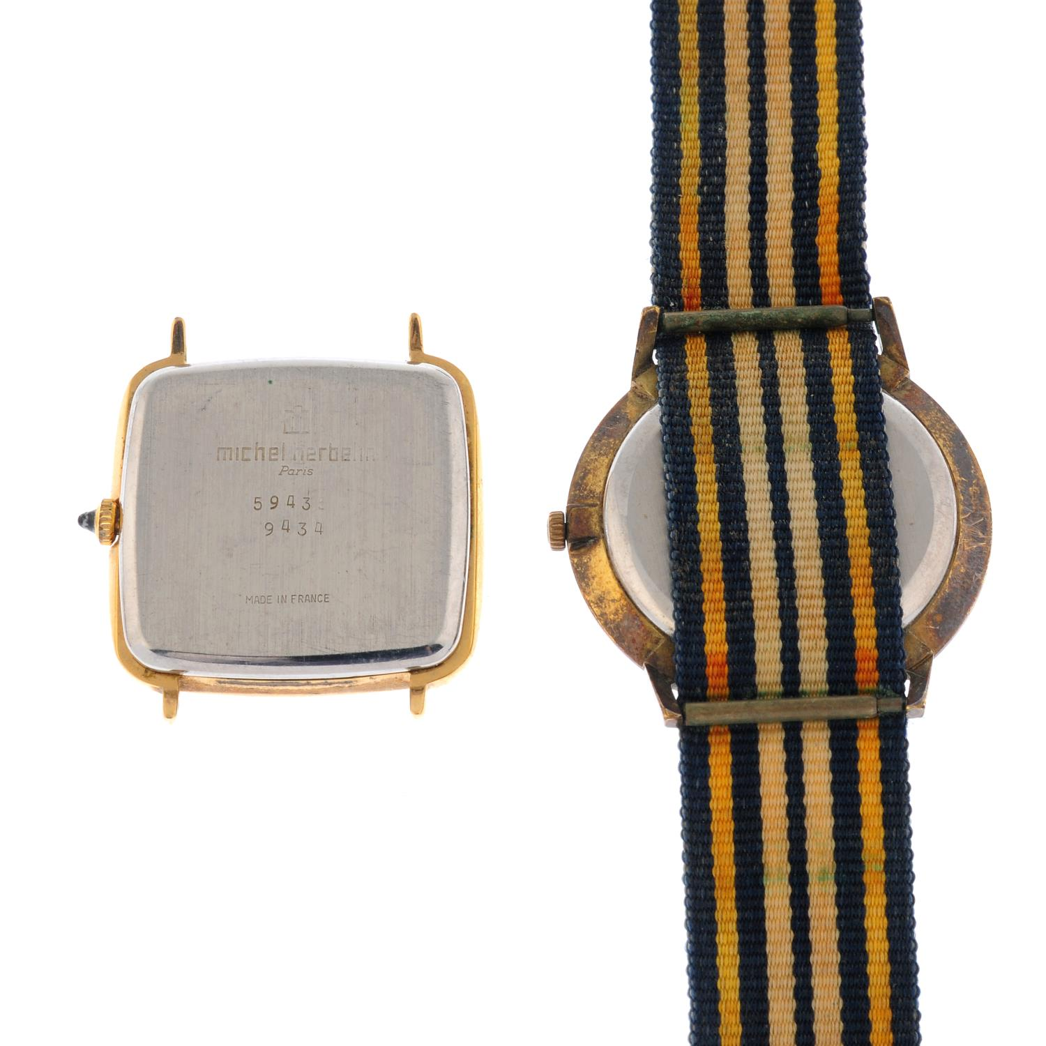 A group of five wrist watches, to include an example by Enicar and Tissot. - Image 4 of 4