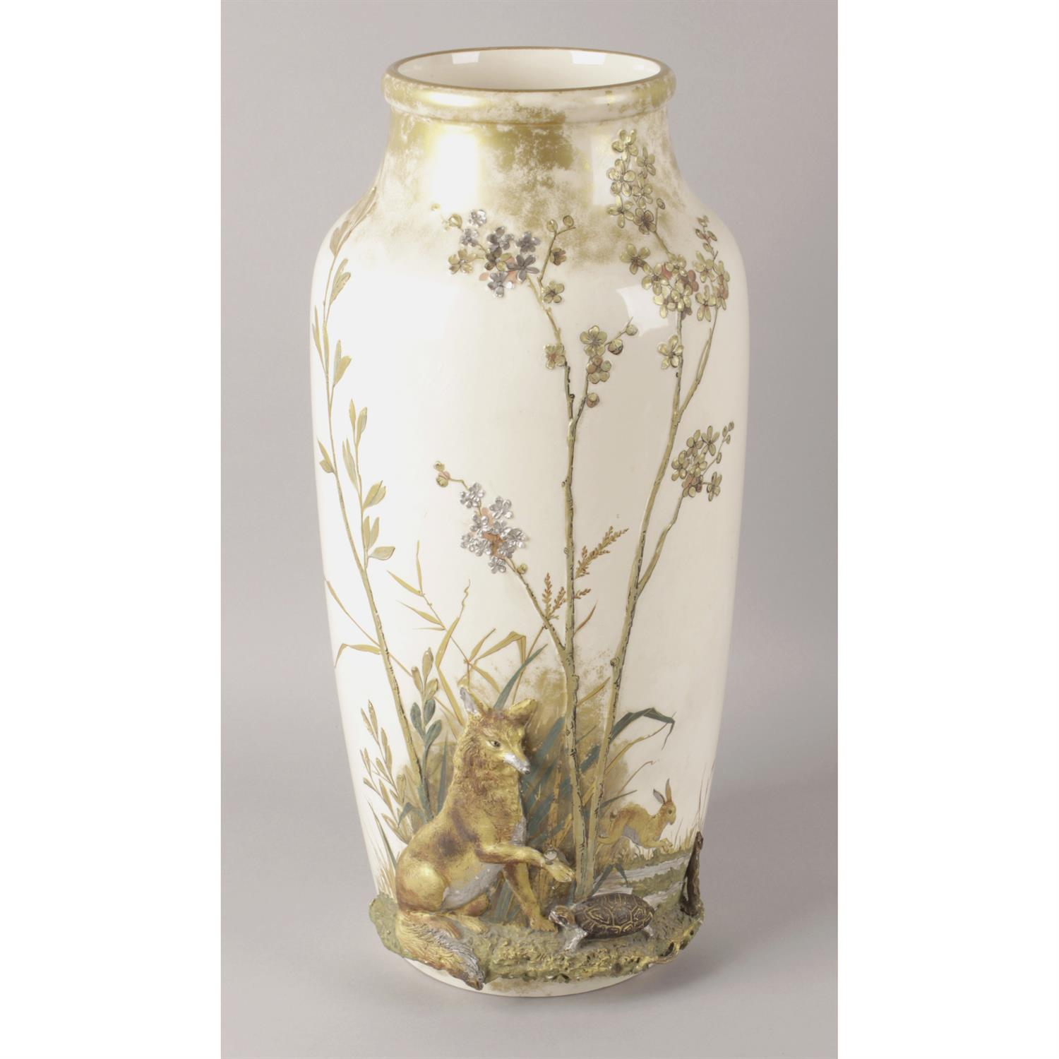 Unusual late 19th century Royal Doulton pottery vase