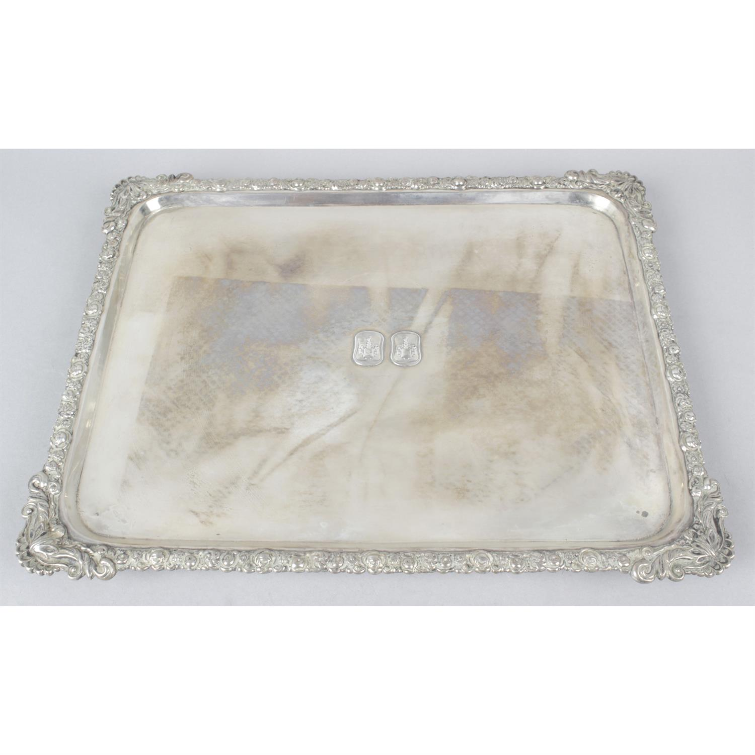 A continental rectangular tray, possibly 19th century Austria-Hungary.