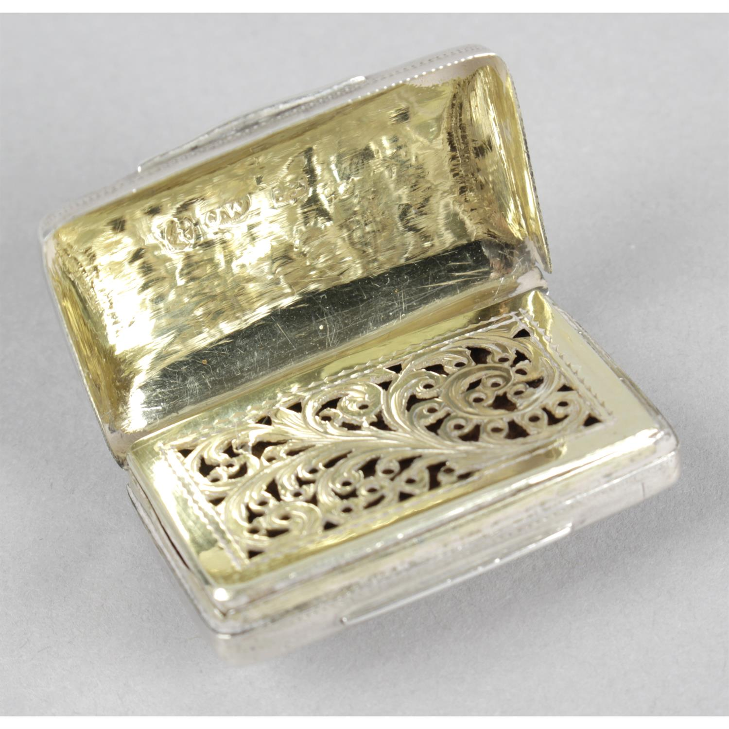 A George IV silver vinaigrette by Joseph Willmore. - Image 3 of 4