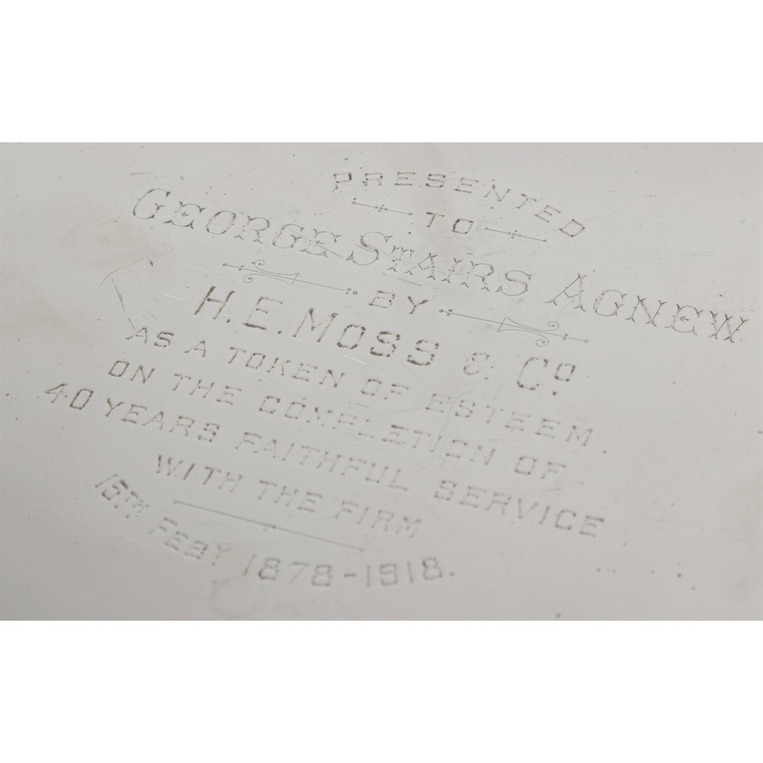 A large George V silver salver, with presentation engraving. - Image 2 of 3