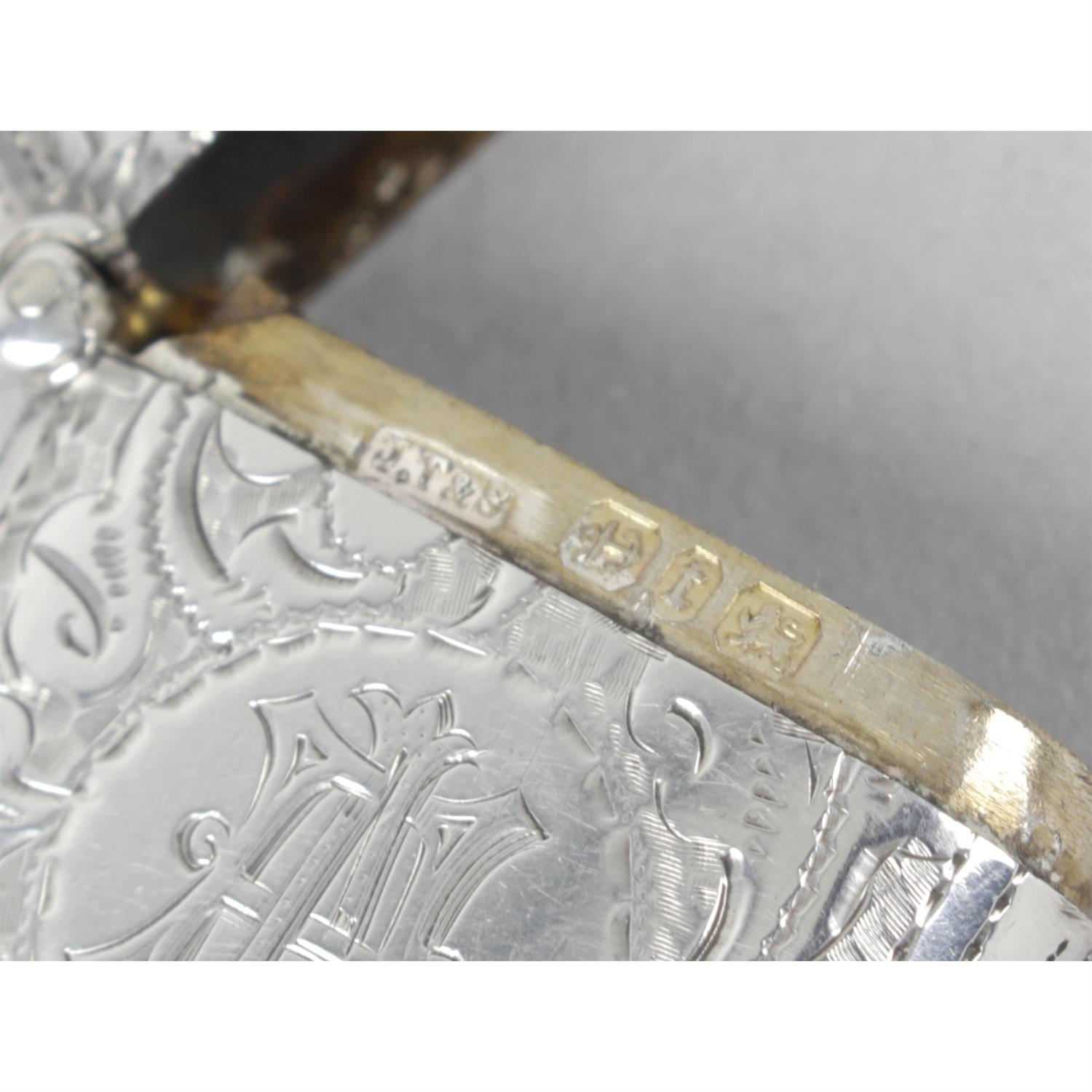 Three late Victorian silver vesta cases, with floral and foliate engraving. (3). - Image 2 of 4