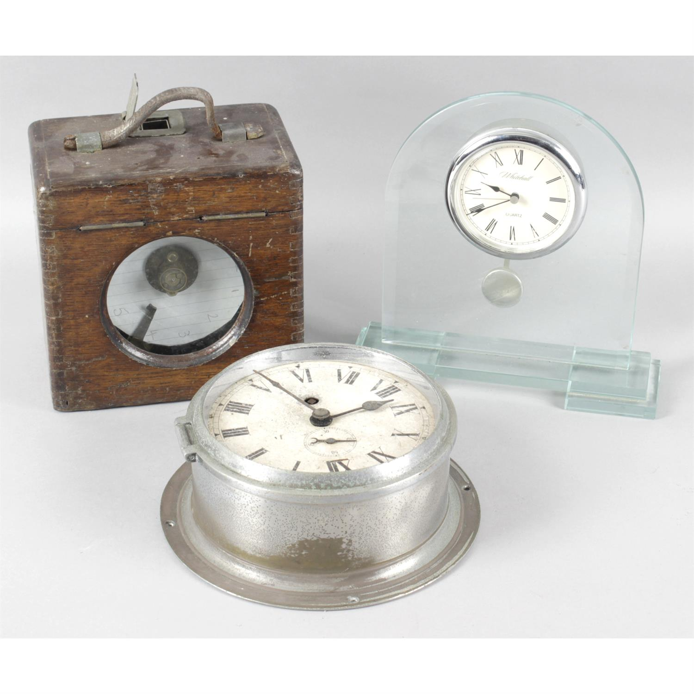 Quantity of clocks, including wall and mantel clocks