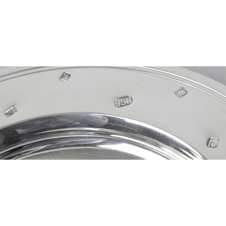 A large Britannia silver armada style presentation dish. - Image 2 of 3