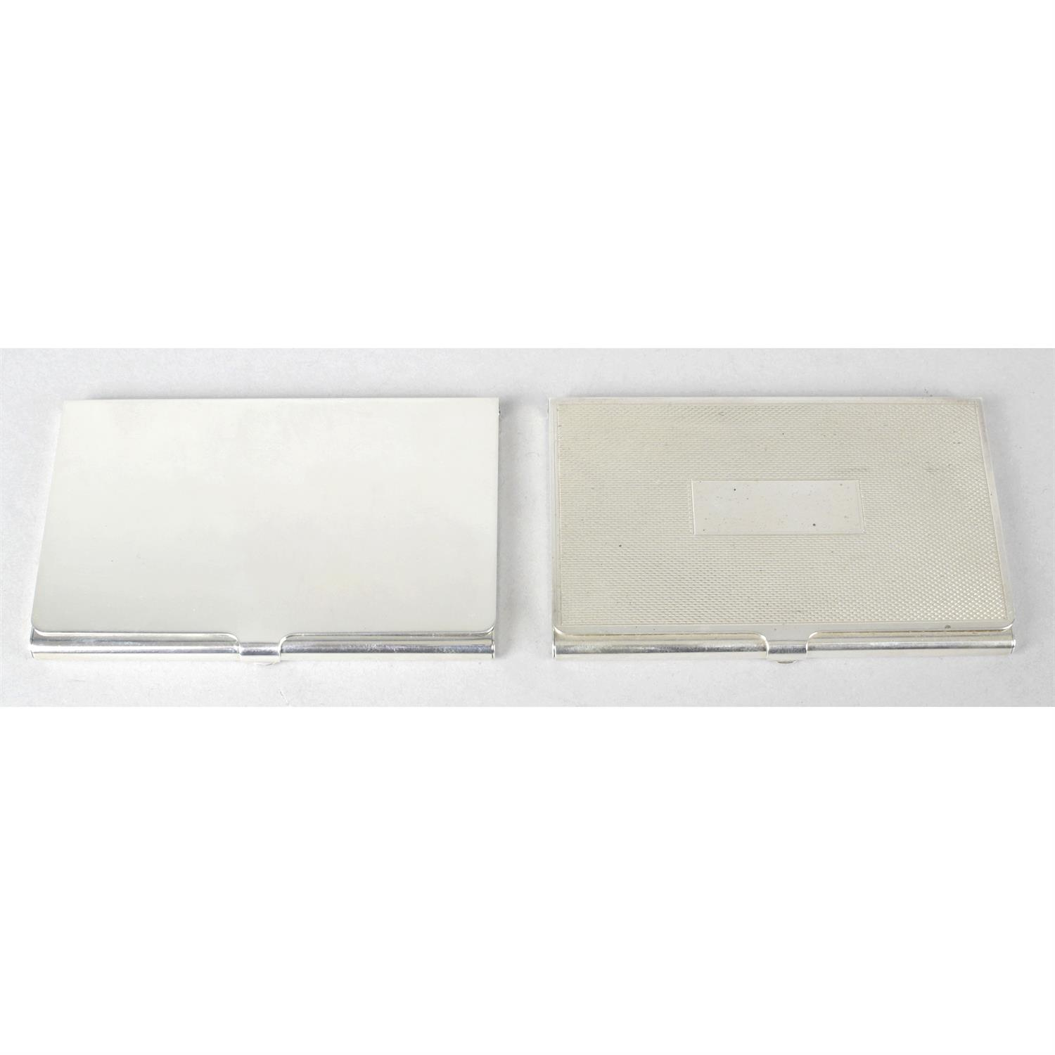 Two silver credit card cases. (2).