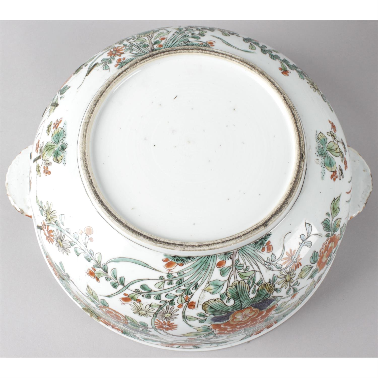 A twin handled oriental dish with cover together with an Imari bowl. - Image 3 of 3