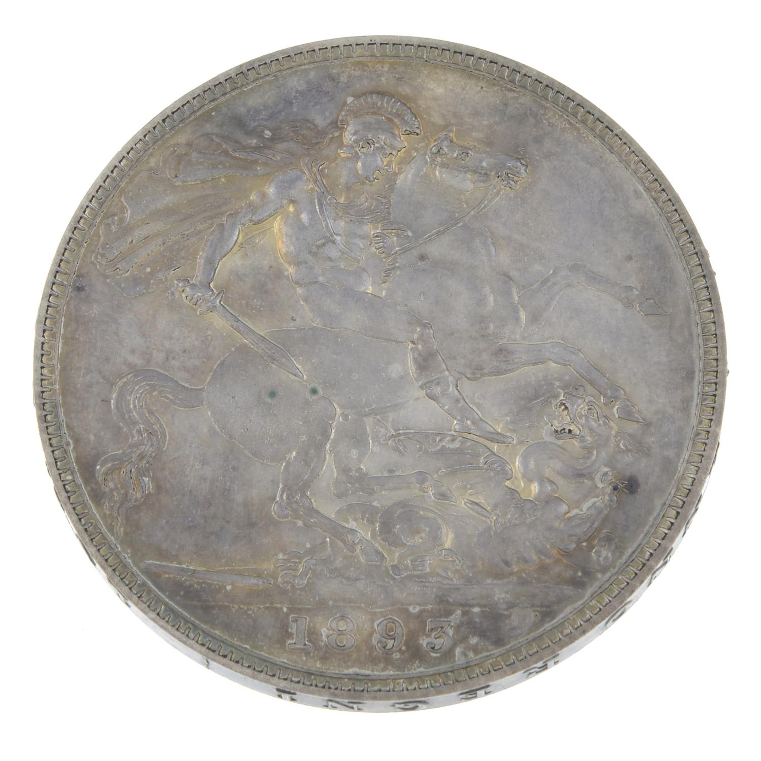 Victoria, Proof Crown 1893. - Image 2 of 2