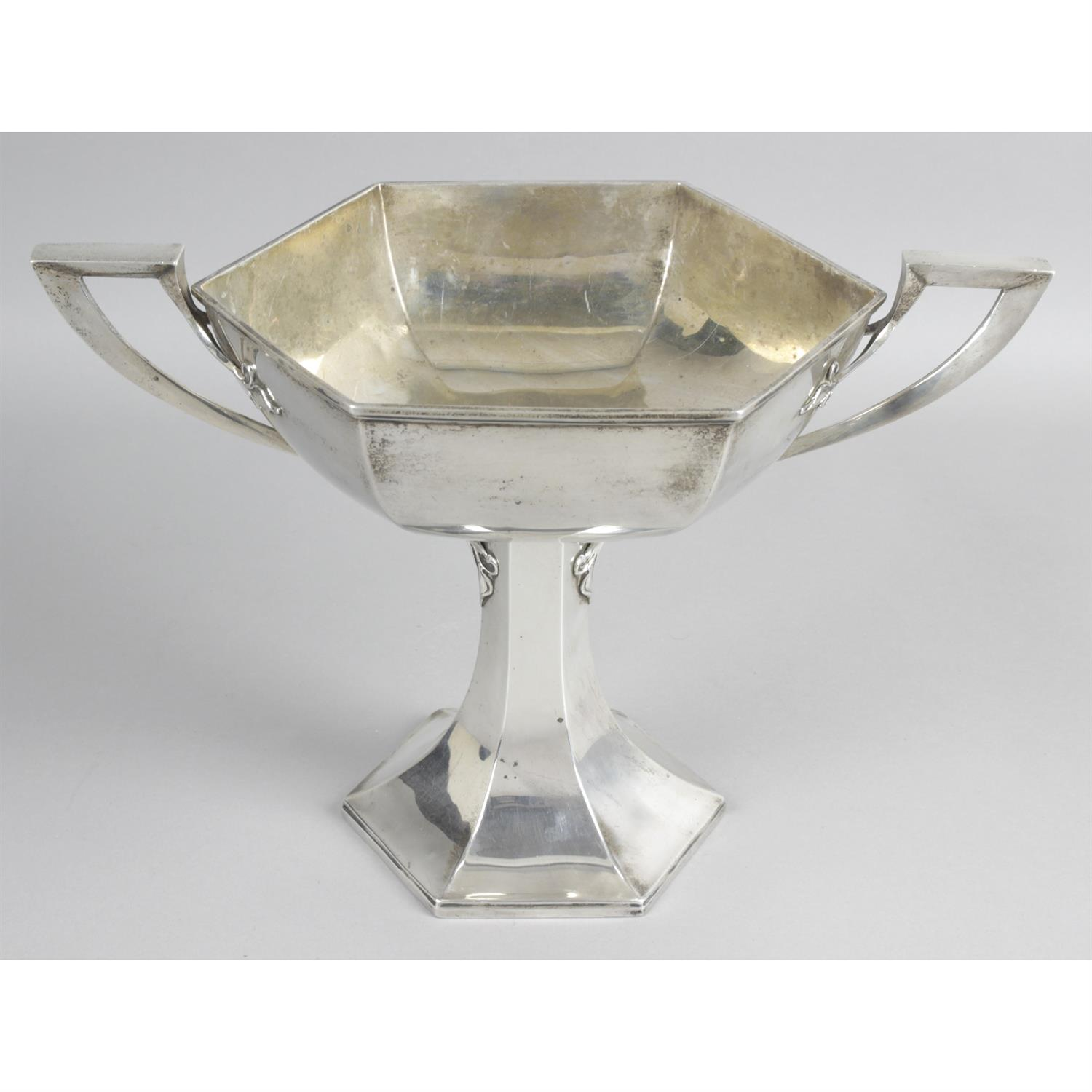 A 1920's silver twin-handled trophy cup, by Walker & Hall. - Image 2 of 4