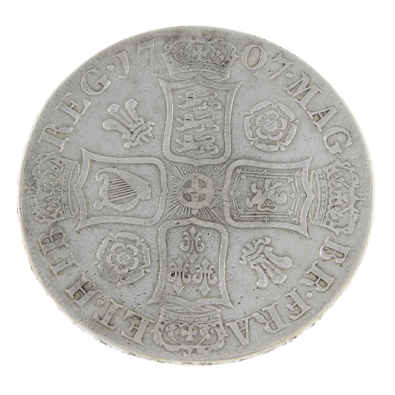 Anne, Crown 1707. - Image 2 of 2