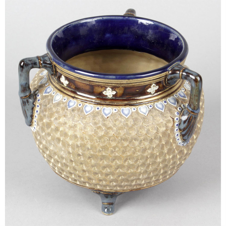 A Royal Doulton vase of cauldron shaped form.
