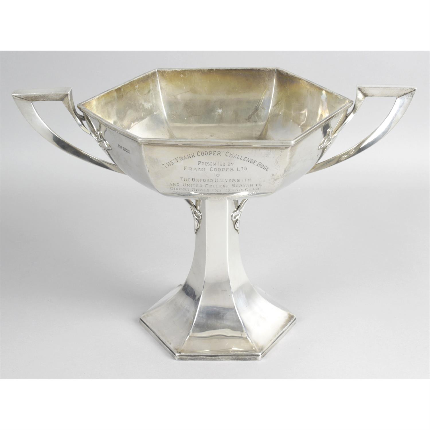 A 1920's silver twin-handled trophy cup, by Walker & Hall.