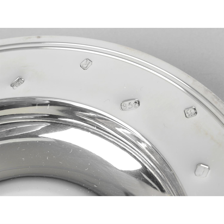 A Britannia silver armada style presentation dish. - Image 2 of 3