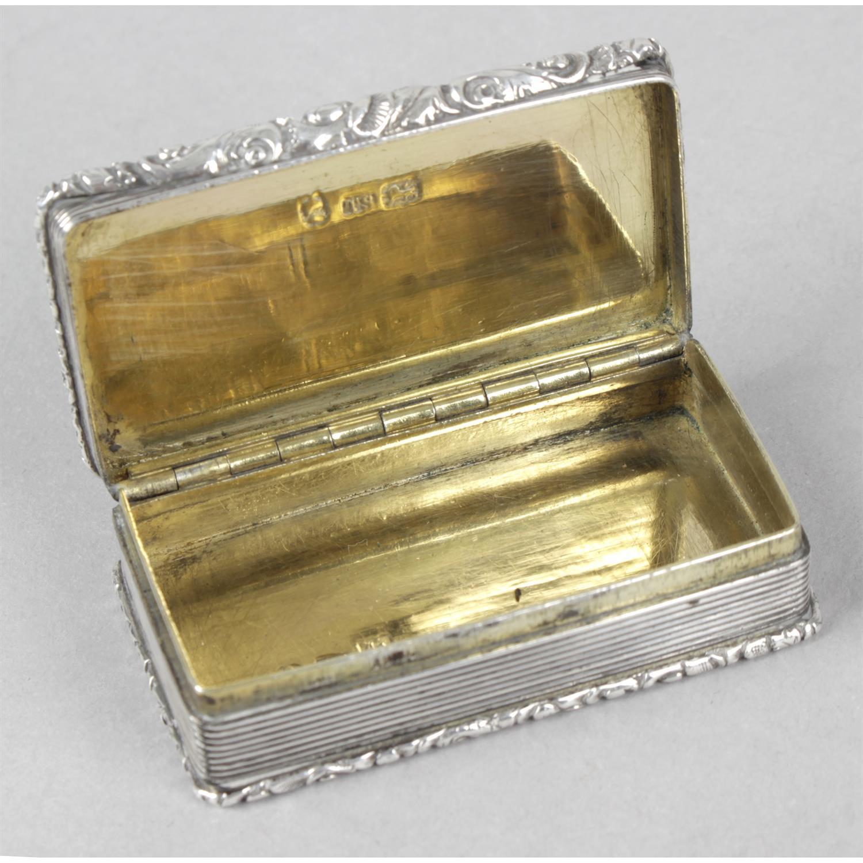 A William IV silver snuff box. - Image 2 of 3