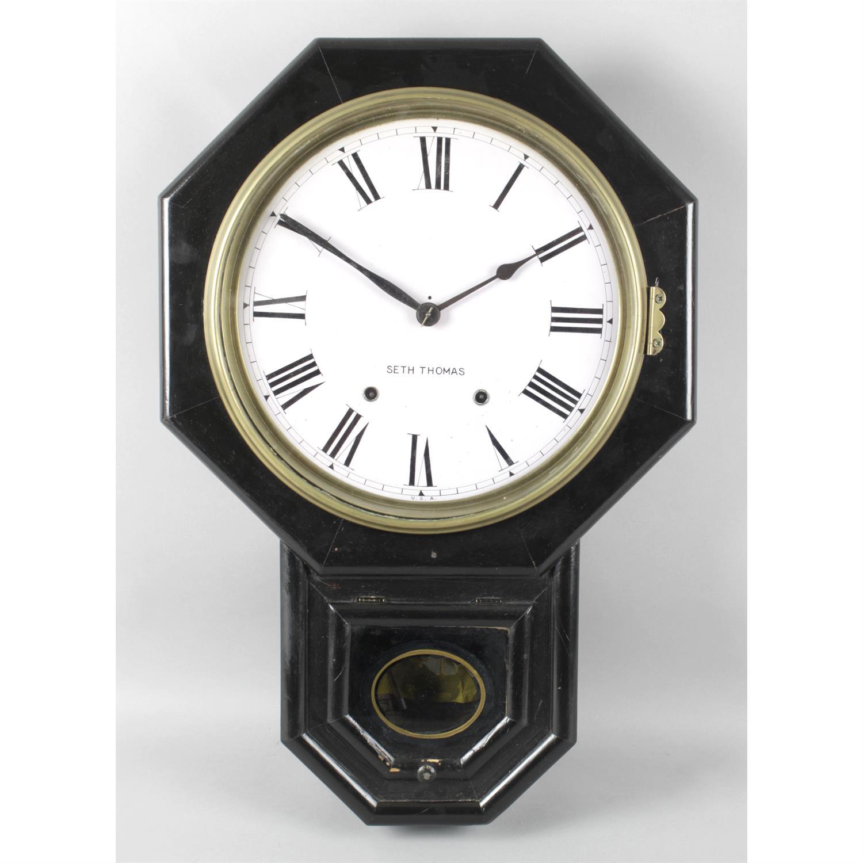 Variety of clocks including a Seth Thomas wall clock