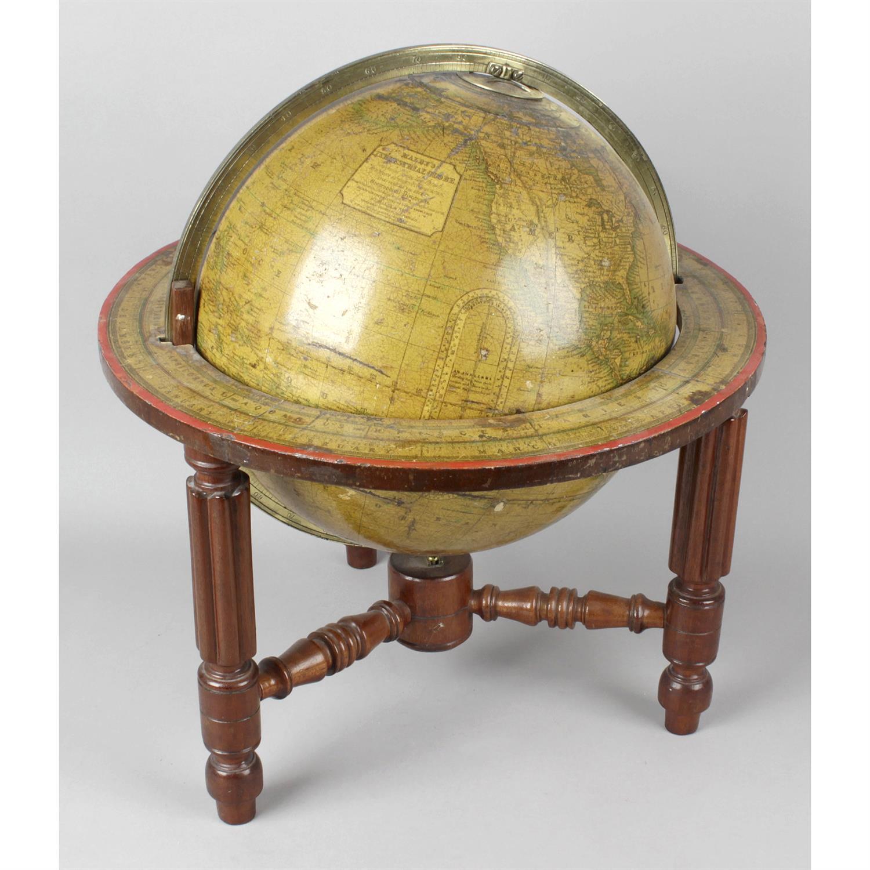 A 19th Century Malbys terrestrial desk globe