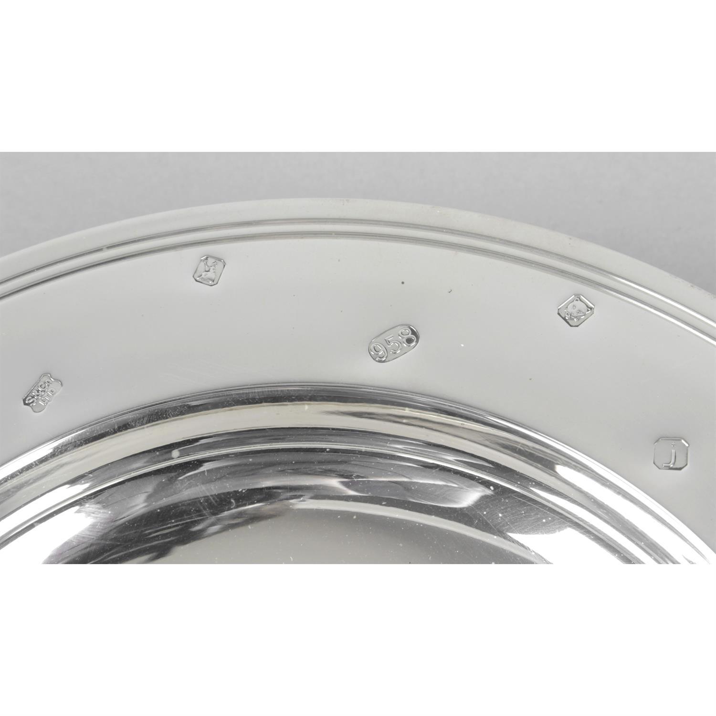 A Britannia silver armada style presentation dish. - Image 2 of 2
