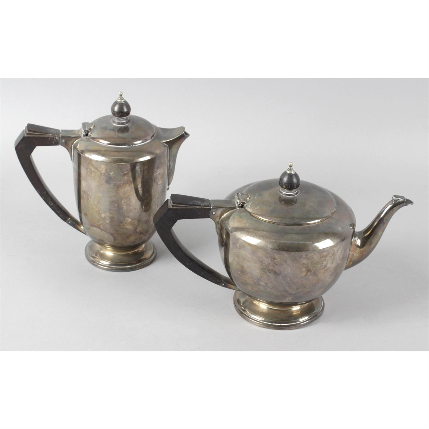 A selection of assorted items to include silver plated cutlery, plated tea pot and coffee pot,