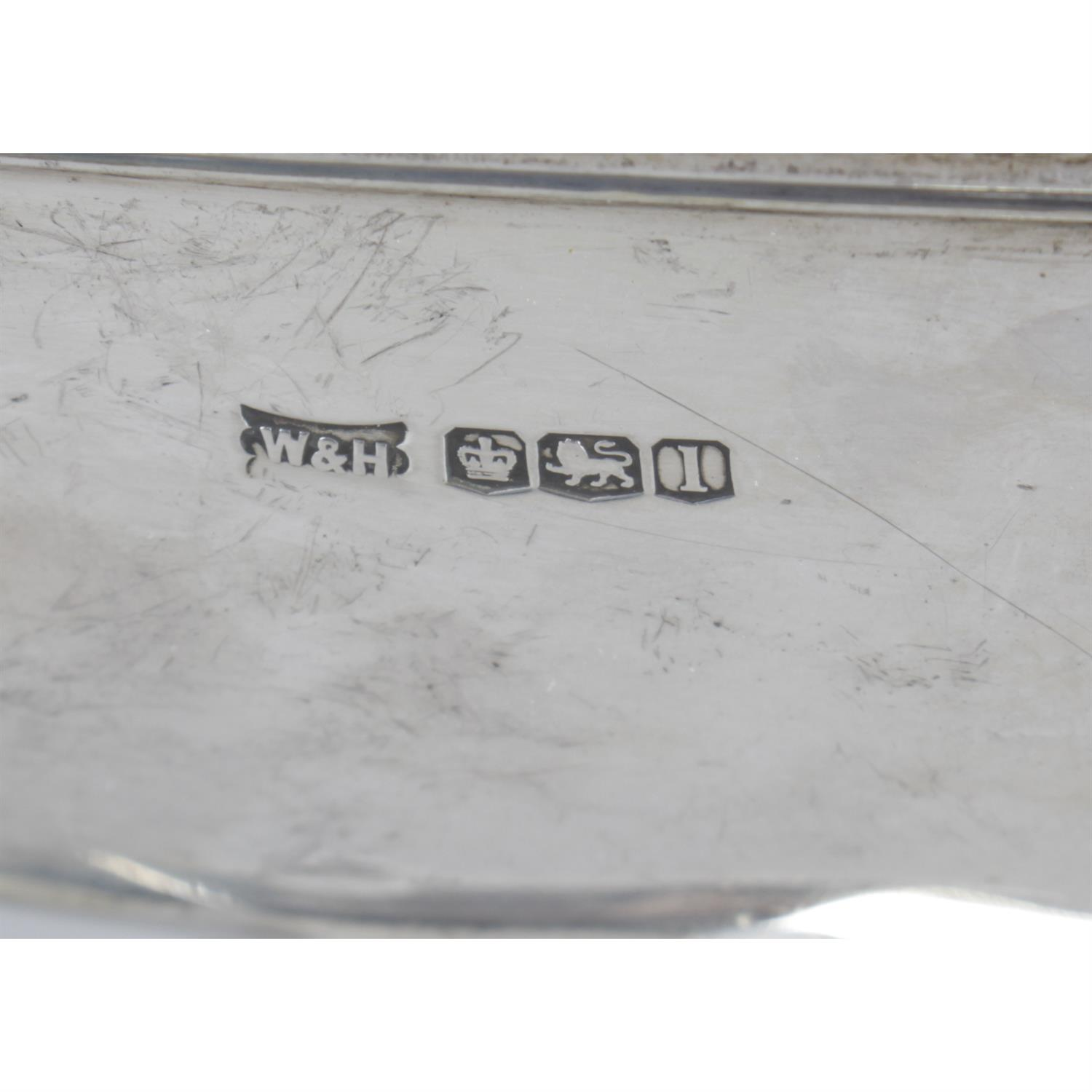 A 1920's silver twin-handled trophy cup, by Walker & Hall. - Image 4 of 4