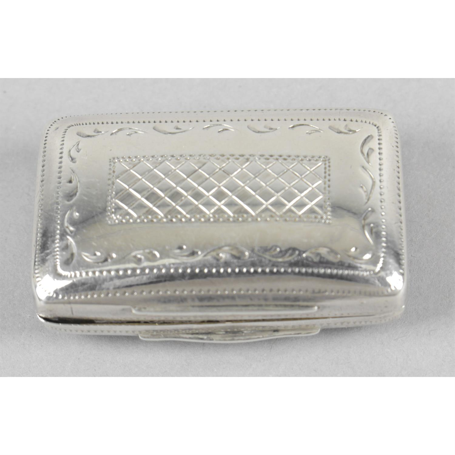 A George IV silver vinaigrette by Joseph Willmore. - Image 2 of 4