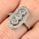 A brilliant-cut diamond ring.