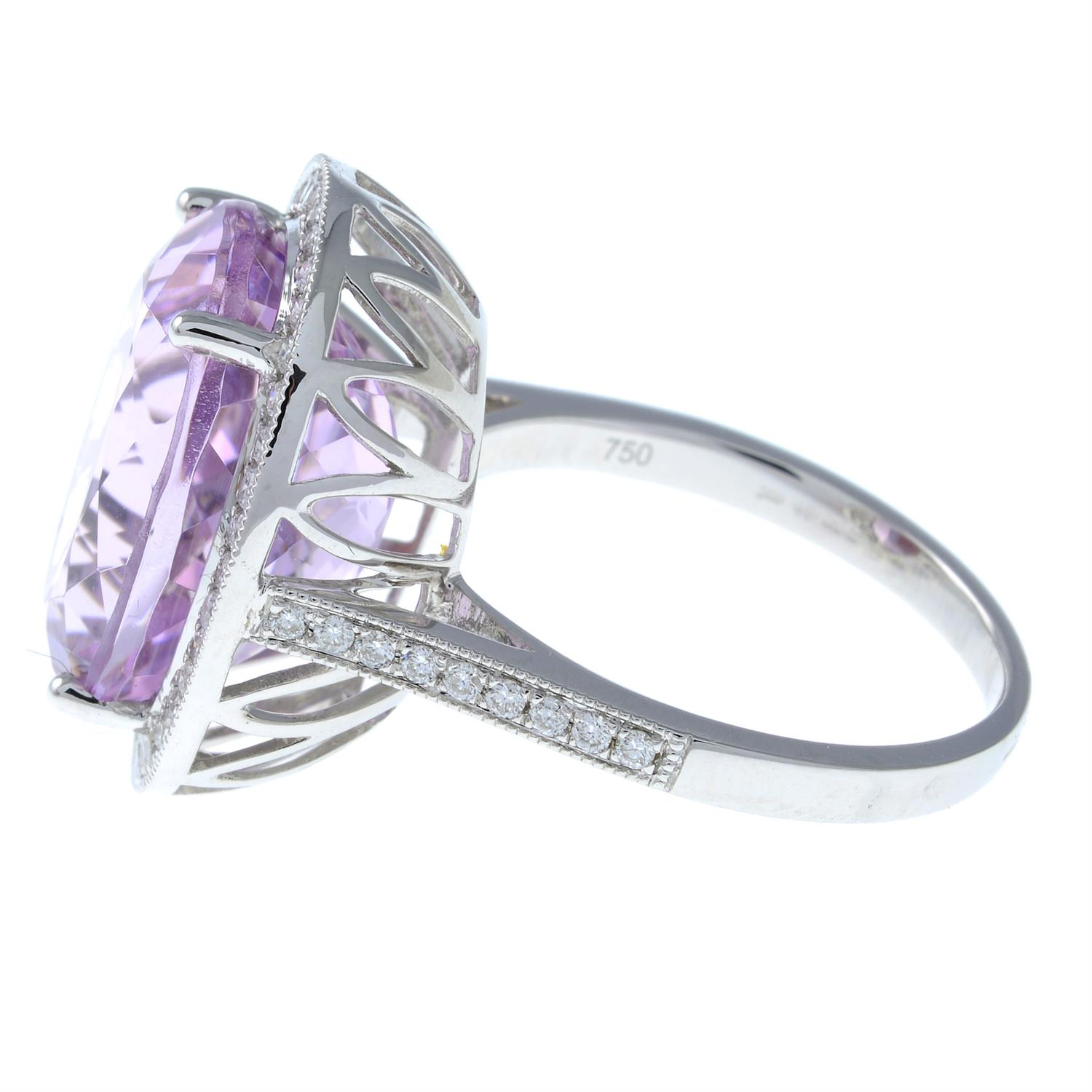 An 18ct gold kunzite and brilliant-cut diamond ring. - Image 3 of 6