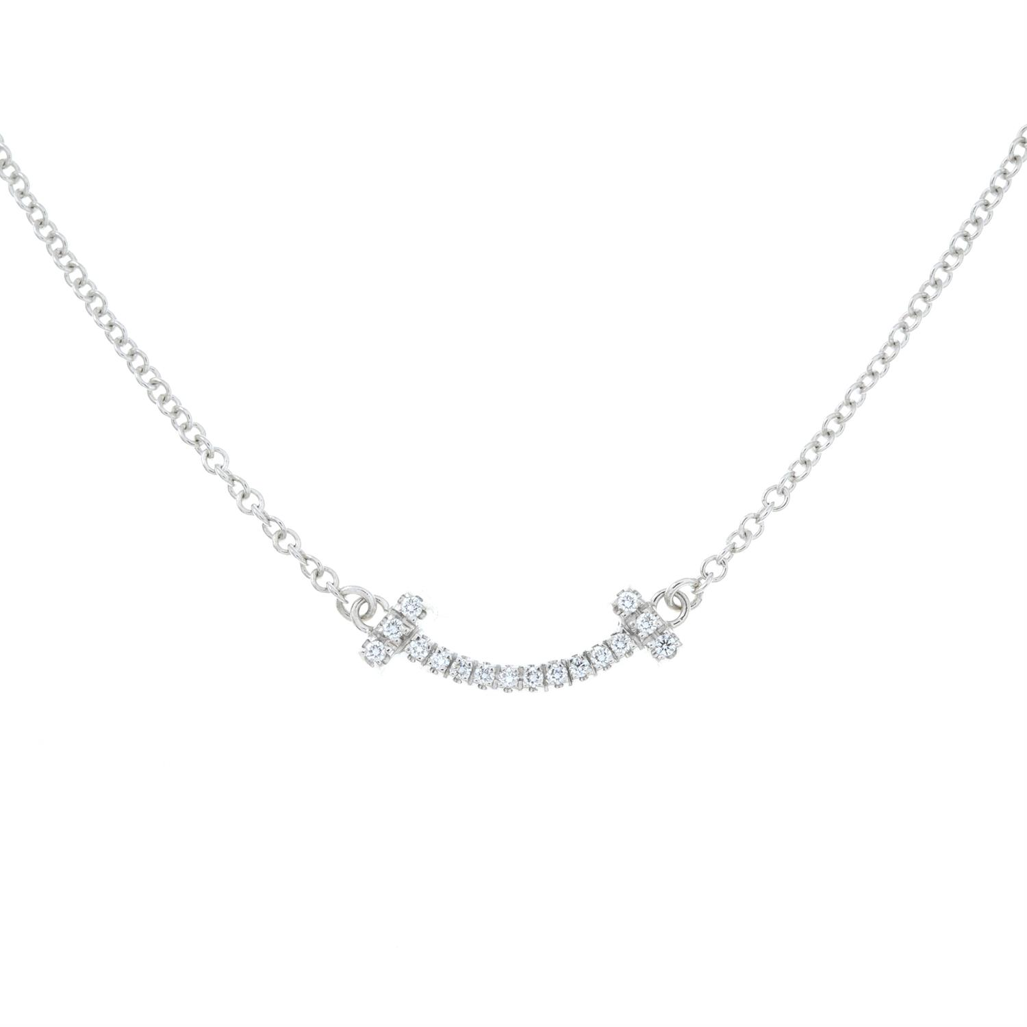A diamond 'T Smile' pendant necklace, by Tiffany & Co. - Image 2 of 5