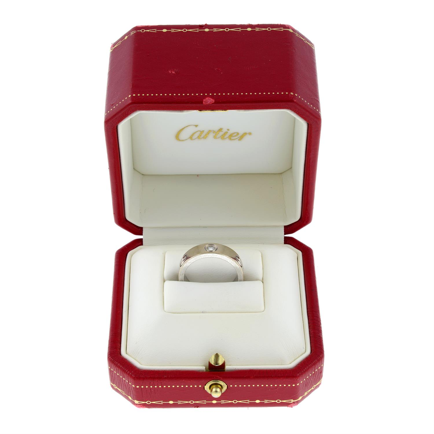 An 18ct gold diamond 'Love' ring, by Cartier. - Image 6 of 8