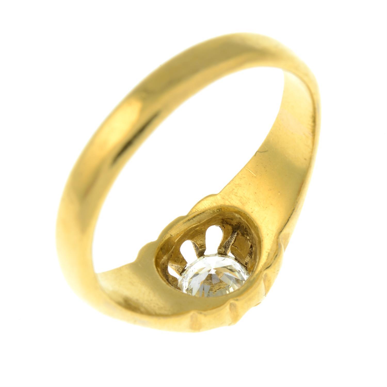 A gentleman's 22ct gold brilliant-cut diamond single-stone ring. - Image 5 of 6
