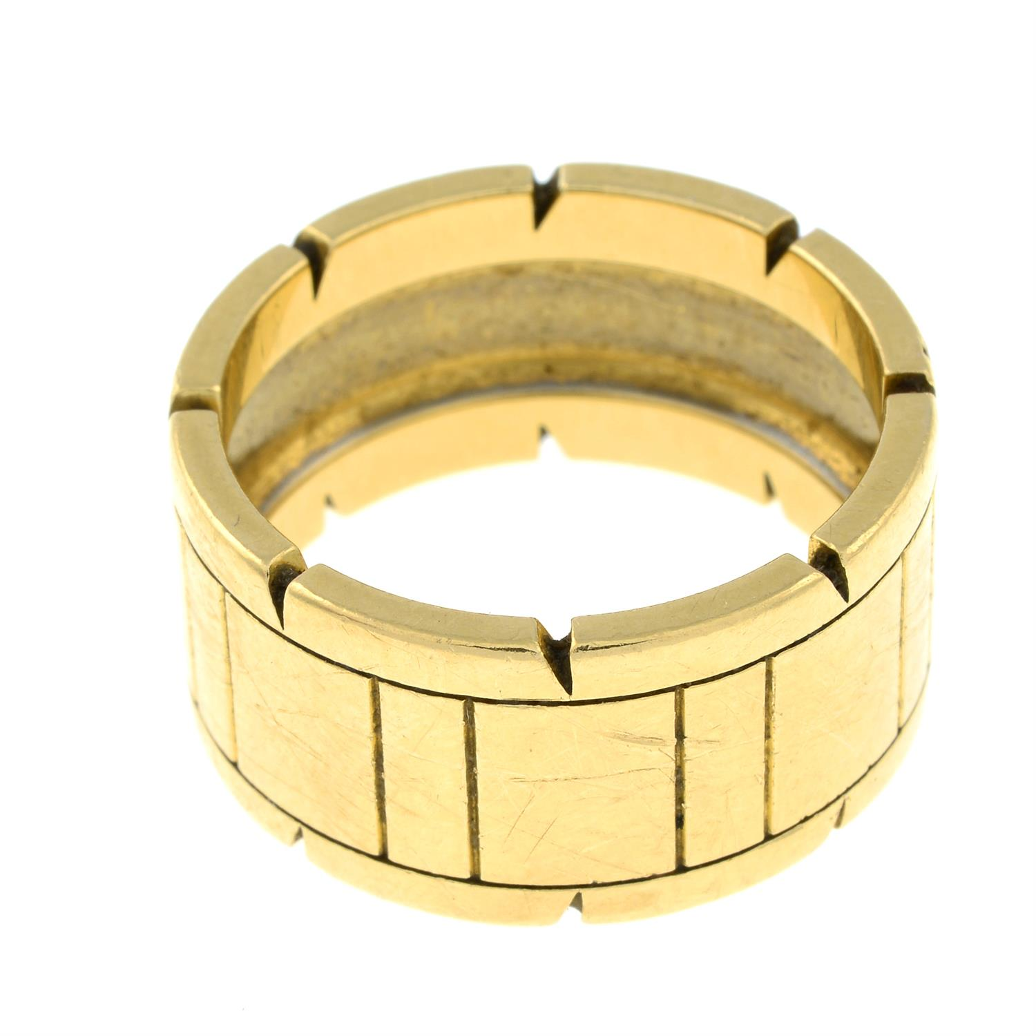 An 18ct gold 'Tank Francaise' ring, by Cartier. - Image 3 of 5