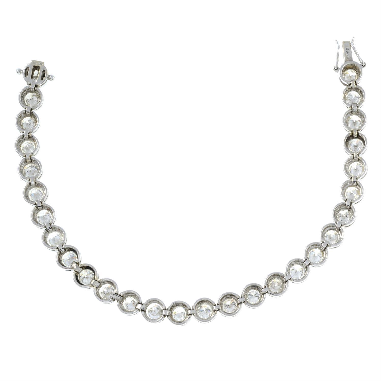 A brilliant-cut diamond line bracelet. - Image 4 of 5