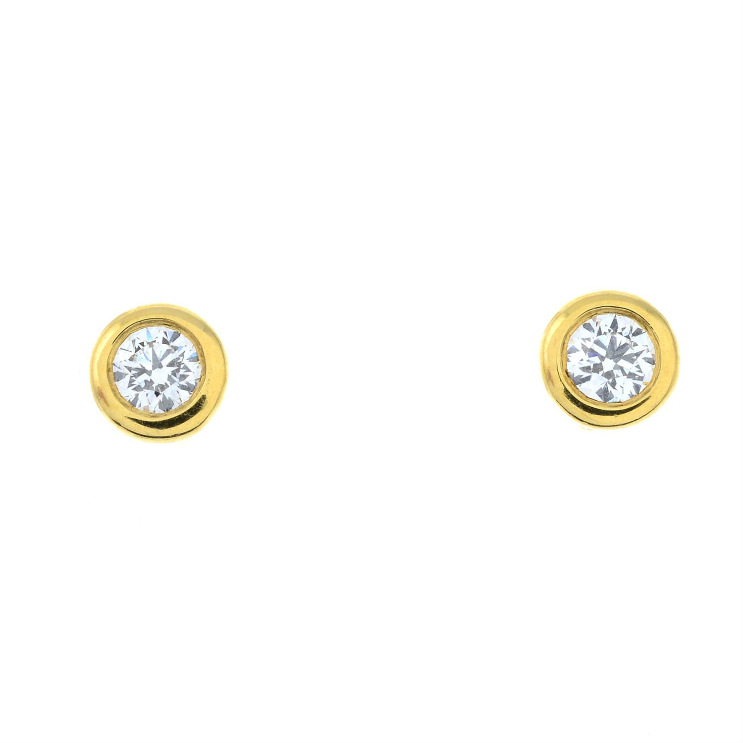 A pair of 'Diamonds by The Yard' earrings, by Elsa Peretti, for Tiffany & Co. - Image 2 of 4