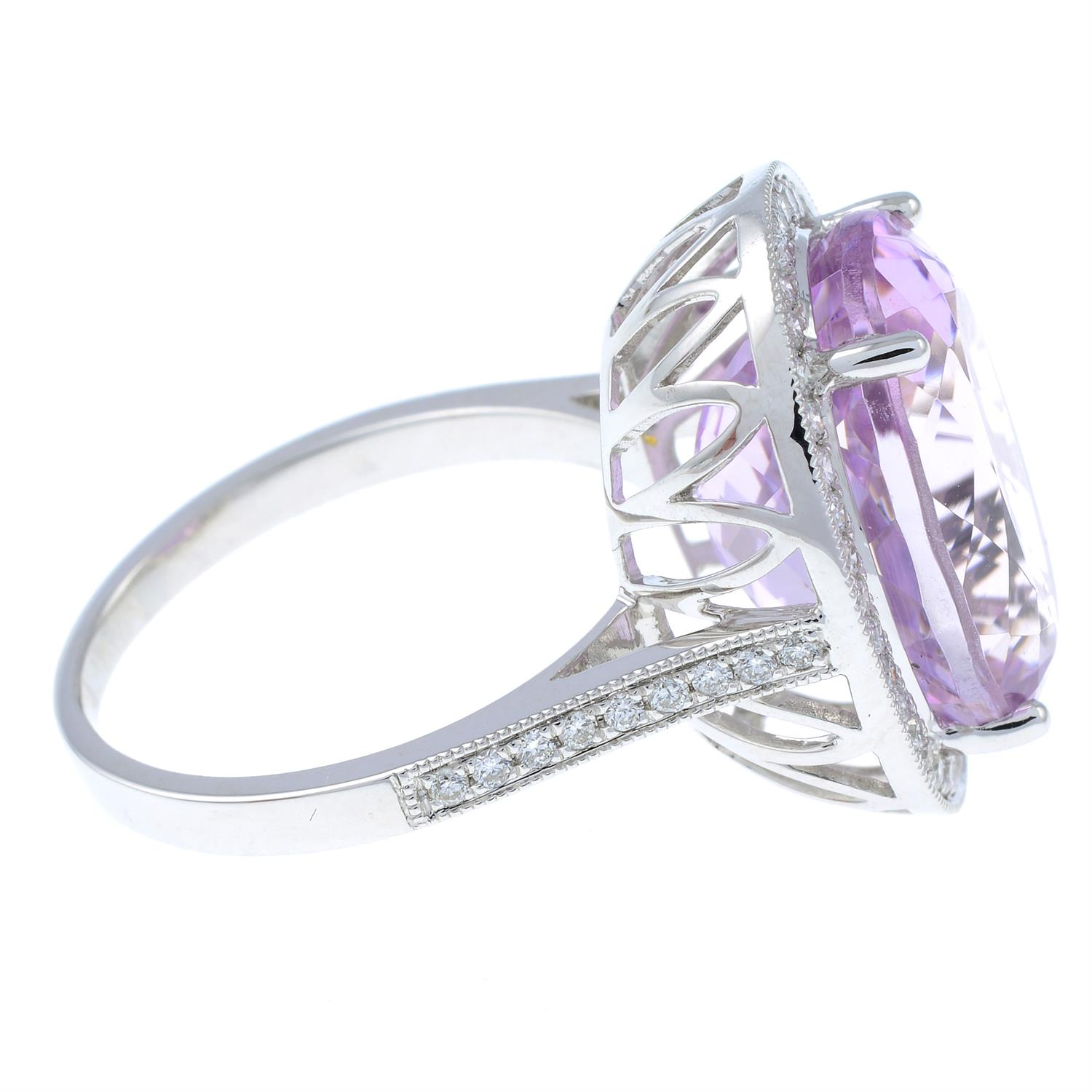 An 18ct gold kunzite and brilliant-cut diamond ring. - Image 4 of 6