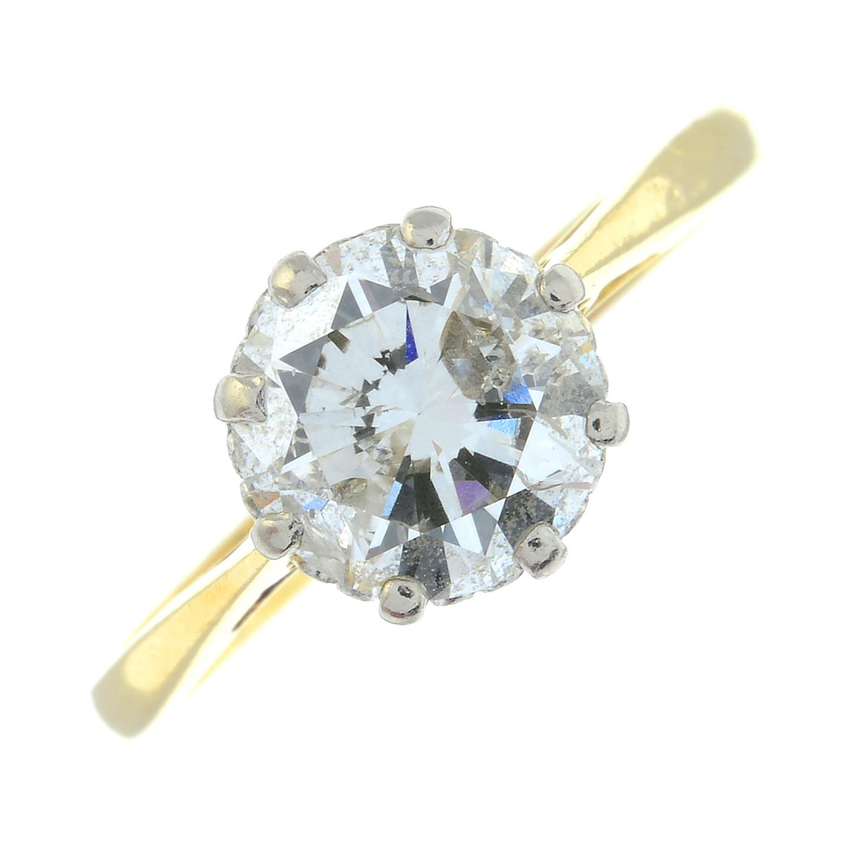 An 18ct gold brilliant-cut diamond single-stone ring. - Image 2 of 6