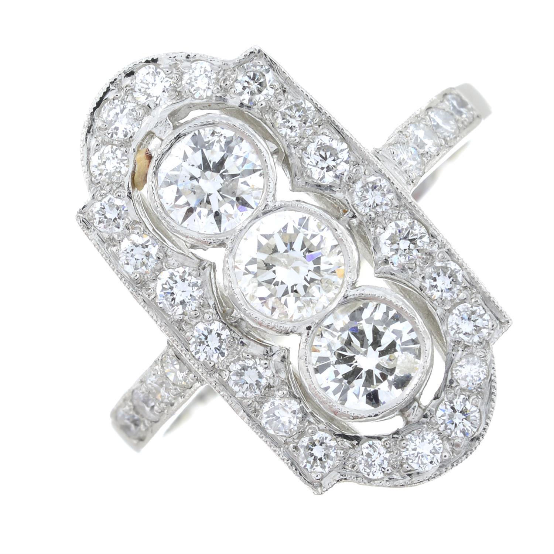 A brilliant-cut diamond ring. - Image 2 of 6