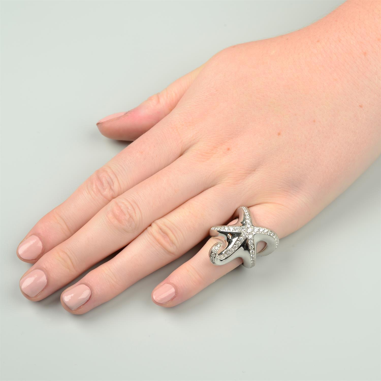 A brilliant-cut diamond starfish ring, by Boucheron. - Image 6 of 6