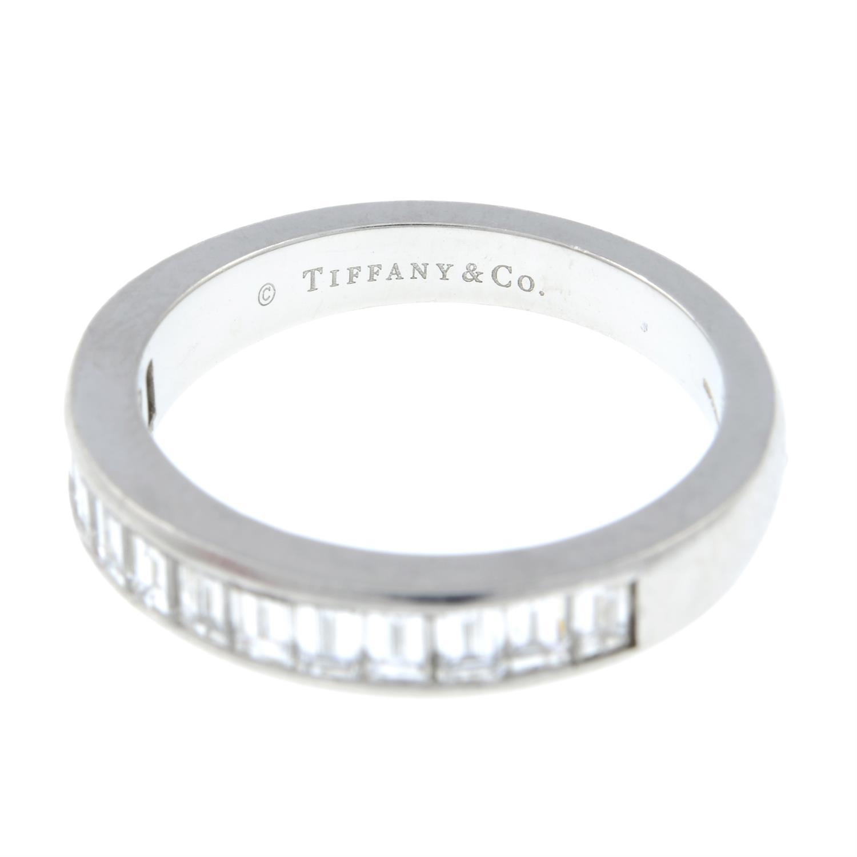 A platinum diamond half eternity ring, by Tiffany & Co. - Image 3 of 7