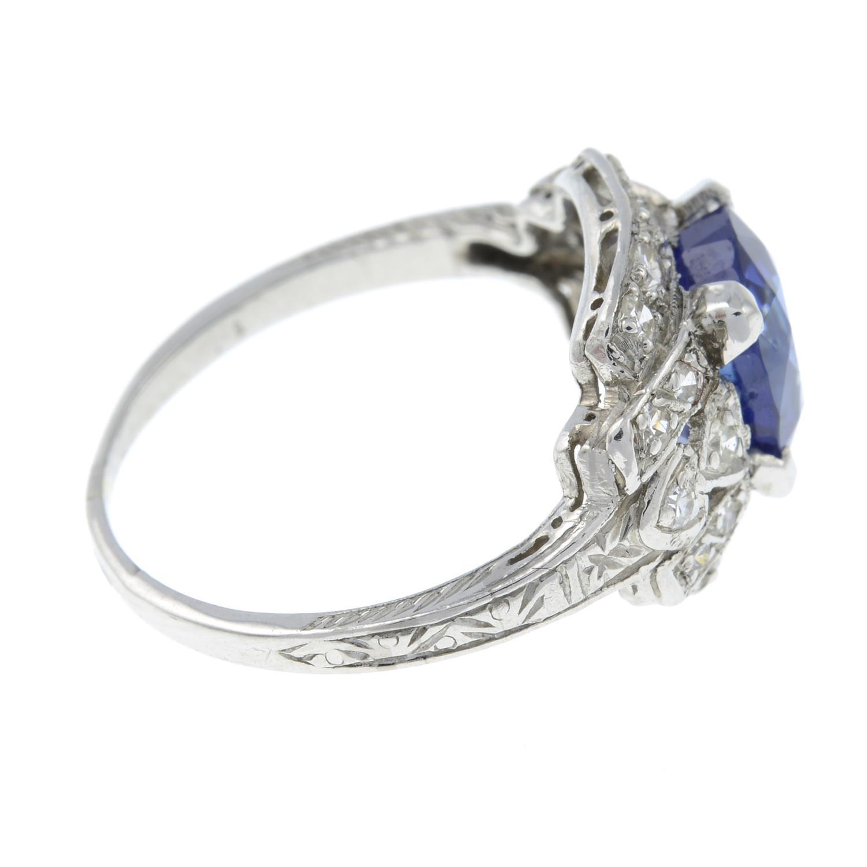 A sapphire and single-cut diamond dress ring. - Image 4 of 6