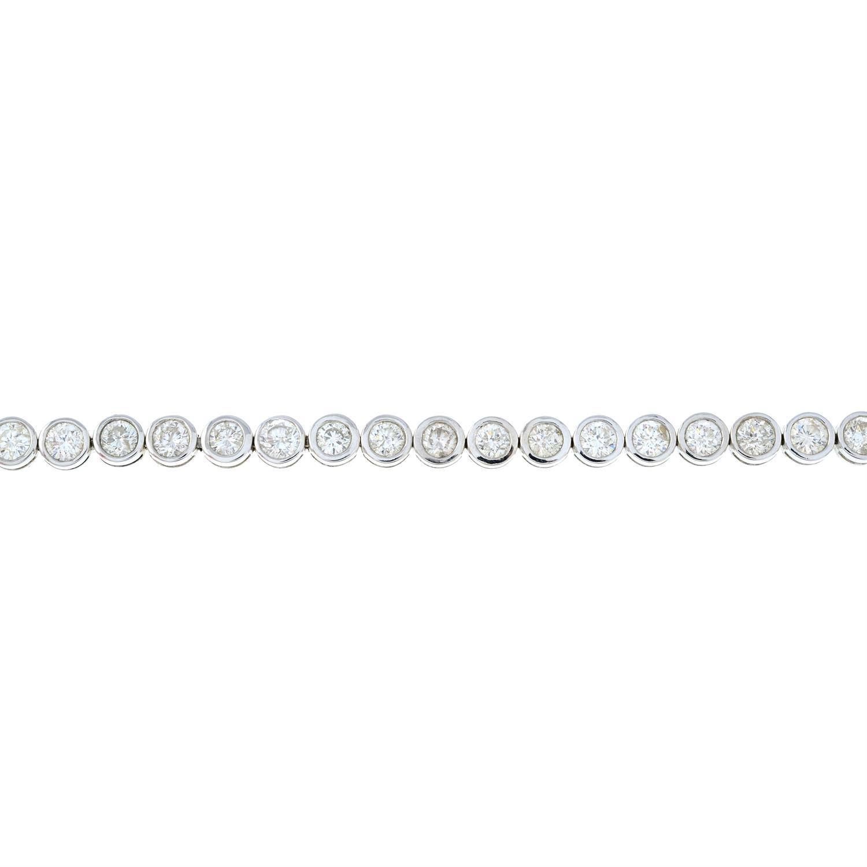 A brilliant-cut diamond line bracelet. - Image 2 of 5